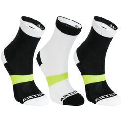 RS 160 High Sport Socks Tri-Pack - Black/White/Yellow