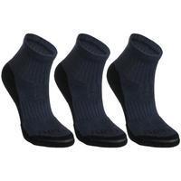 Kids' Mid Tennis Socks RS 500 Tri-Pack - Navy