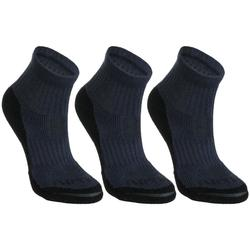 RS 500 Kids' Mid-Cut Sport Socks Tri-Pack - Navy Blue