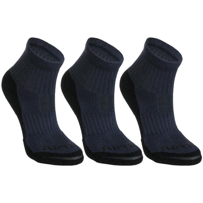 Kids' Mid Tennis Socks RS 500 Tri-Pack - Navy