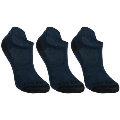 Дитячі низькі шкарпетки 160 для тенісу, 3 пари - Темно-сині