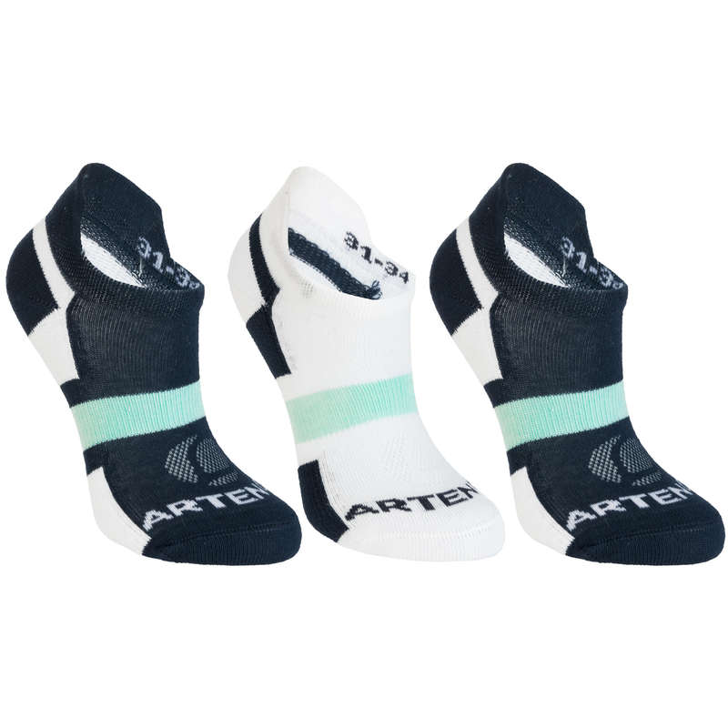 JUNIOR SOCKS Tennis - RS 160 Lowedge Tri-Pack - Navy ARTENGO - Tennis