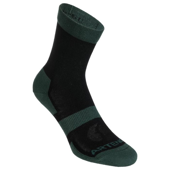 3雙入高筒襪RS 160-黑色/卡其色