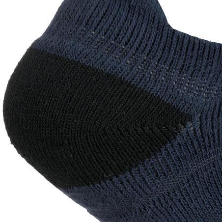 Kids' Low Tennis Socks Tri-Pack RS 500 - Navy