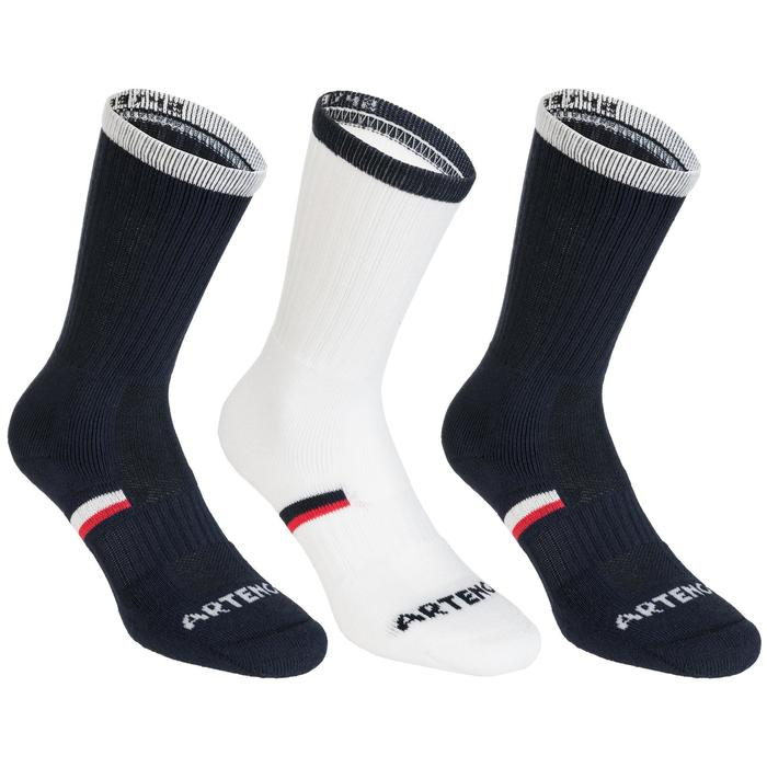 Tennissocken RS 500 High 3er-Pack marineblau/weiß