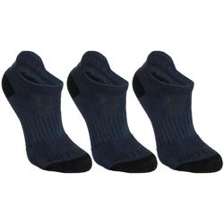 Tennissocken RS 500 Low Kinder 3er Pack marineblau