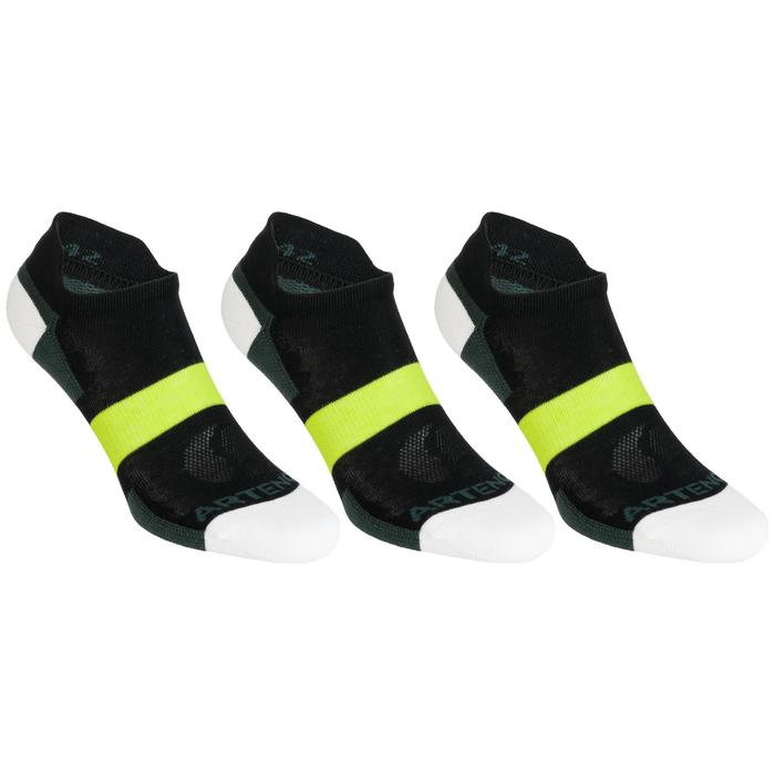 RS 160 Low Sports Socks Tri-Pack - Black/Khaki/Yellow