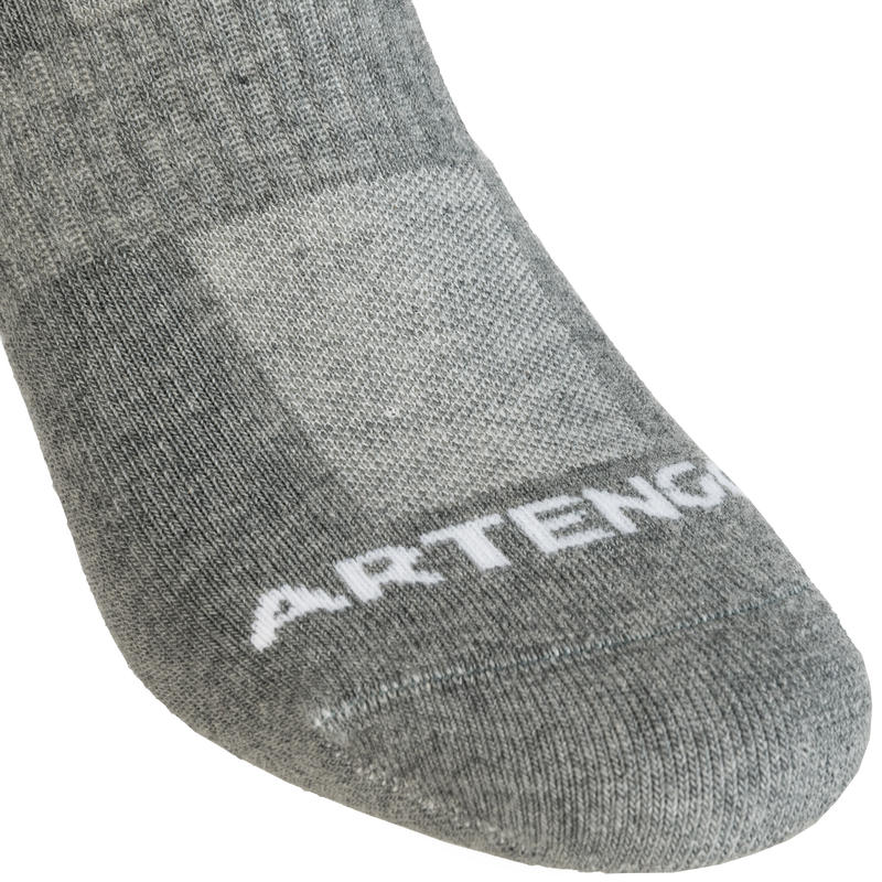 Mid-High Tennis Socks RS 500 Tri-Pack - Grey