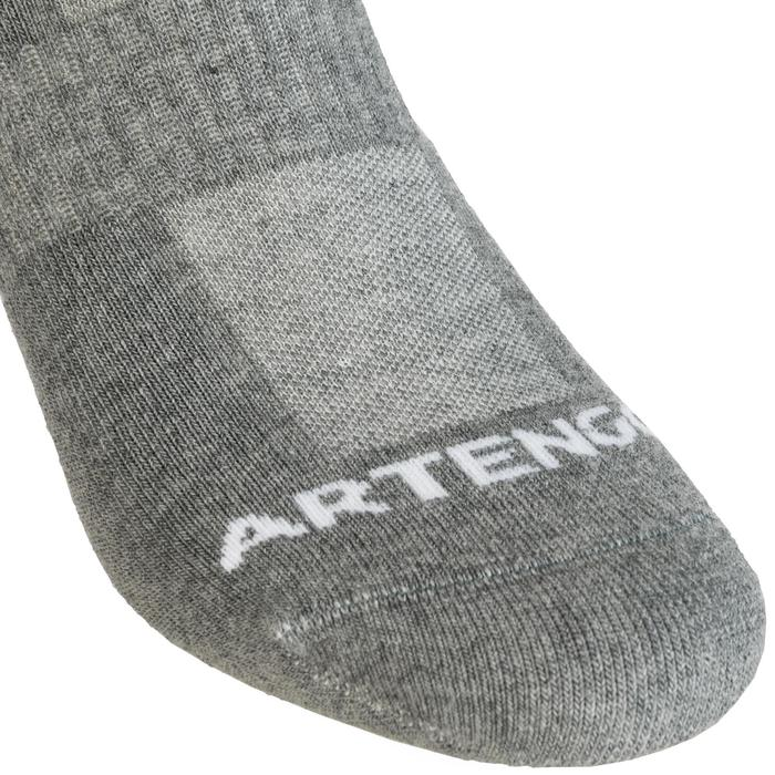 Mid-High Tennis Socks RS 500 Tri-Pack - Grey