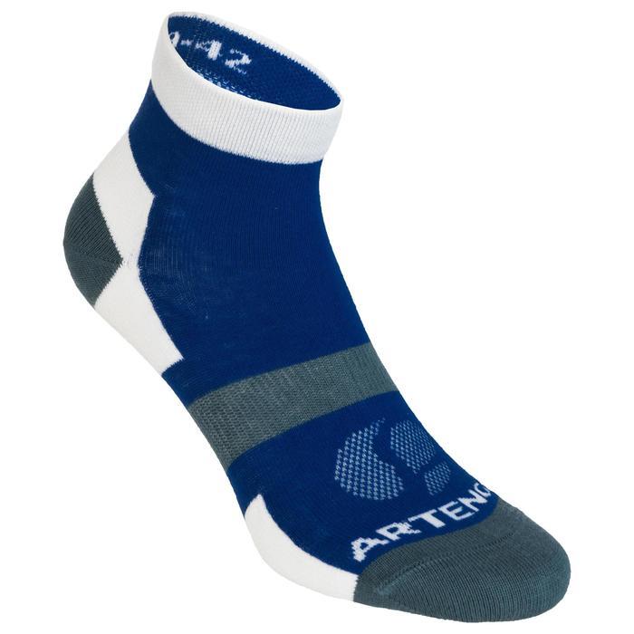 3雙入中筒運動襪RS 160-灰色/白色/藍色