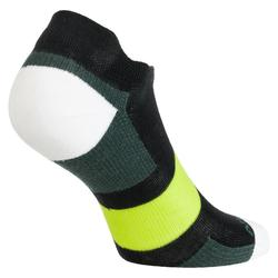 Tennissocken RS 160 Low 3er-Pack schwarz/khaki/gelb Artengo