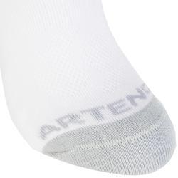 3雙入兒童款低筒網球運動襪RS 500-白色
