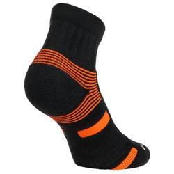 Halfhoge sportsokken Artengo RS 560 zwart/oranje 3 paar