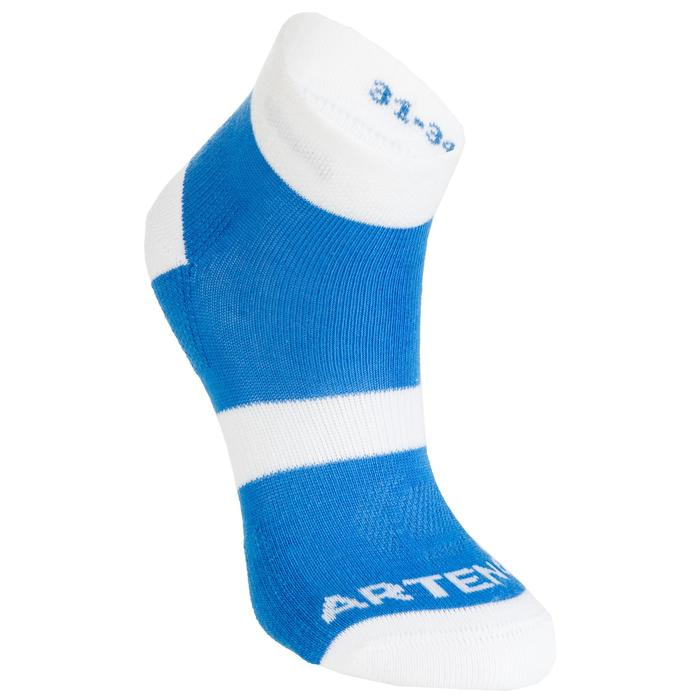 RS 160 Kids' Mid-Cut Sports Socks Tri-Pack - Blue/White