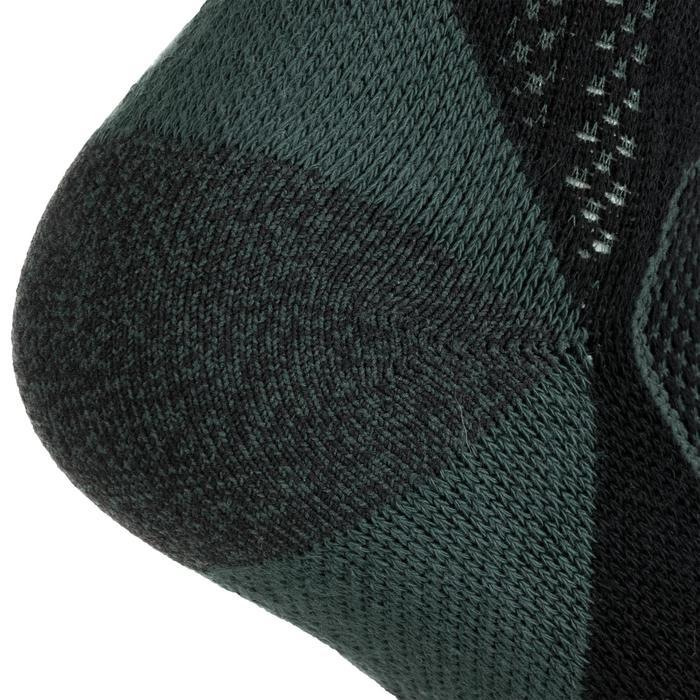 3雙入高筒襪RS 900-黑色/卡其色
