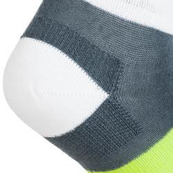 Tennissocken RS 160 Mid Kinder 3er Pack grau/weiß/gelb