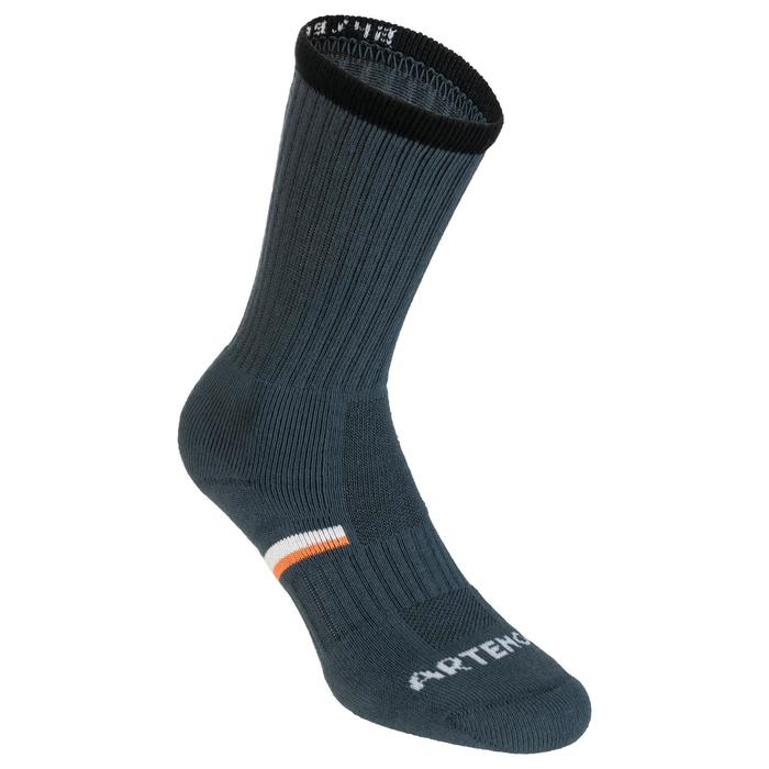 Tennissocken RS 500 High 3er-Pack grau/schwarz