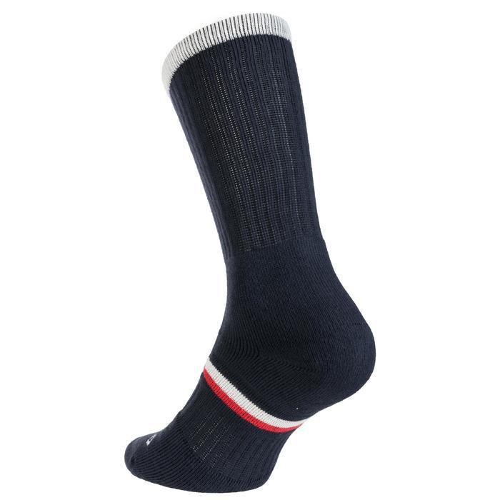 3雙入高筒運動襪RS 500-軍藍色/白色