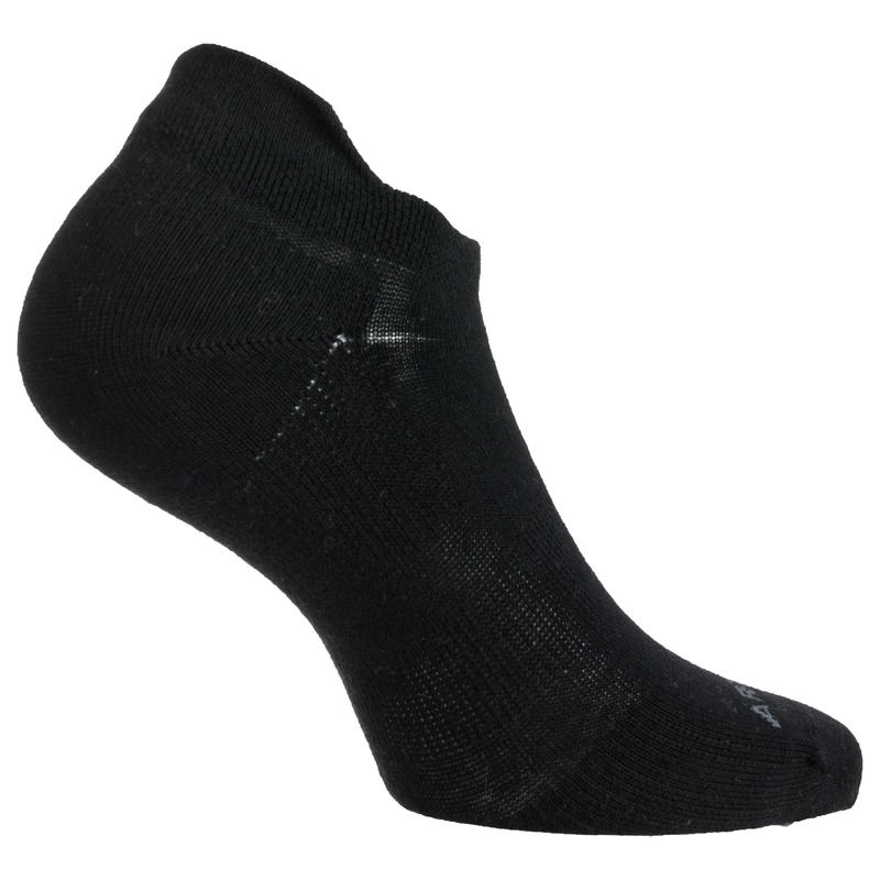 Low Tennis Socks RS 160 Tri-Pack - Black