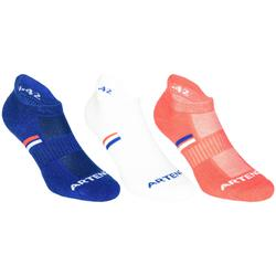 Lage sportsokken Artengo RS 500 roze/blauw/wit 3 paar