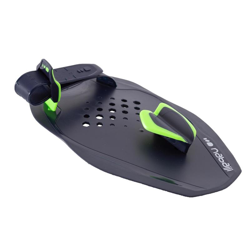 SWIMMING HAND PADDLES QUICK'IN SIZE S - BLUE/GREEN
