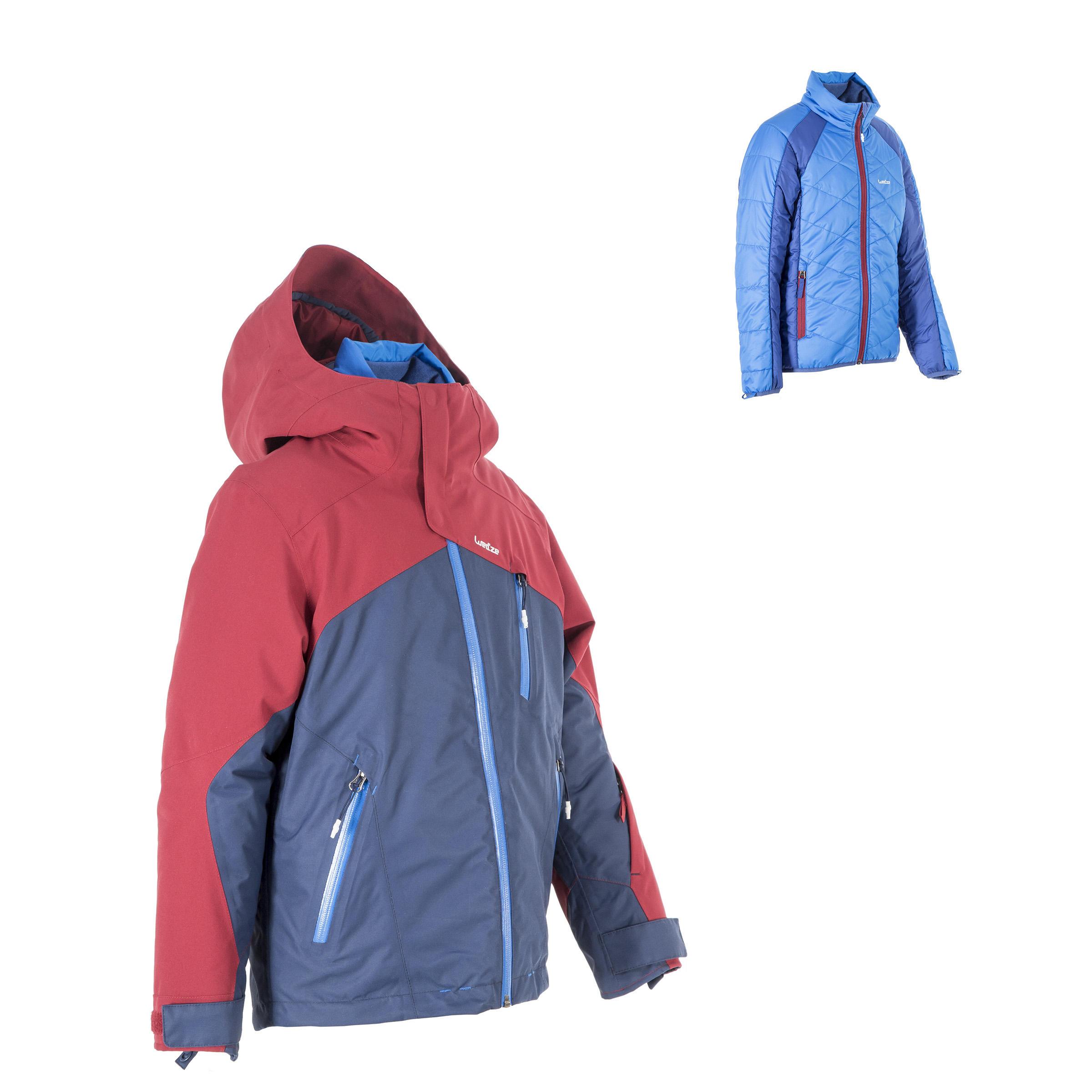 Manteau ski toute montagne enfant 990 bleue Bordeaux