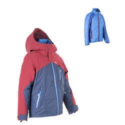 Chaqueta de esquí All Mountain niños 990 azul Burdeos