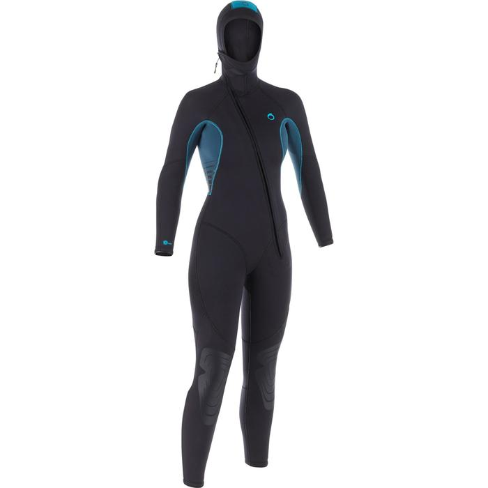 Neopreno Buceo Subea SCD 100 Mujer Neopreno 7,5 MM Agua Fría Gris/Azul