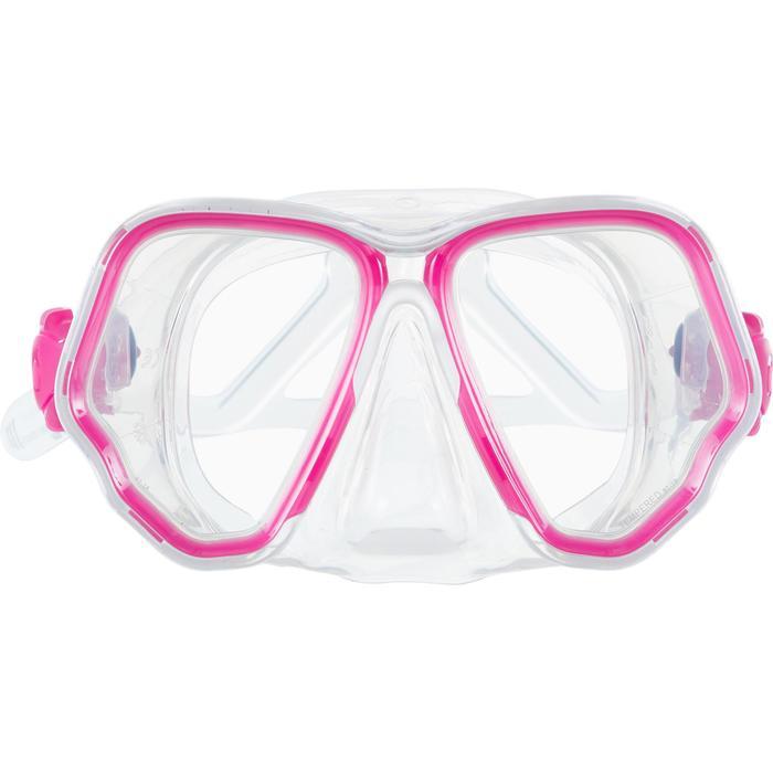 Máscara de buceo SCD 500 doble facial cristal y rosa