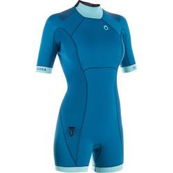 Shorty de plongée sous-marine SCD 500 3mm Femme bleu ciel