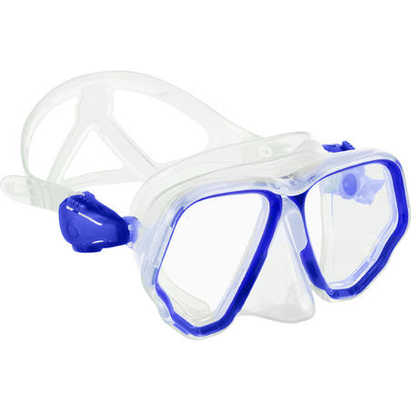 Masker Selam scuba SCD 500 dobel lensa, warna biru terang