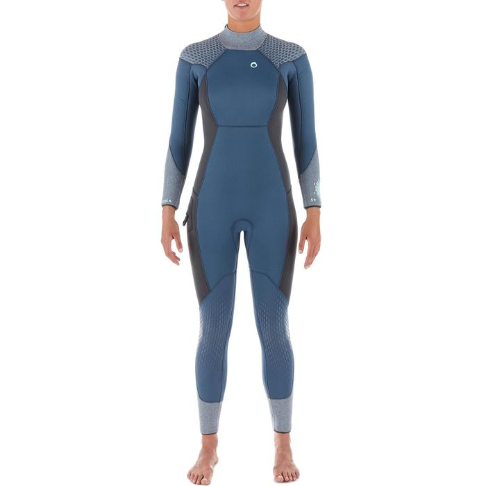 Traje Buceo Subea SCD500 Mujer Neopreno 5 MM Azul
