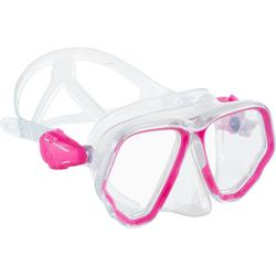 Diving mask SCD 500 double lens crystal and pink skirt