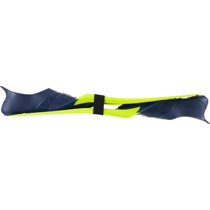 Tauchflossen Gerätetauchen SCD 100 FF blau/neongelb