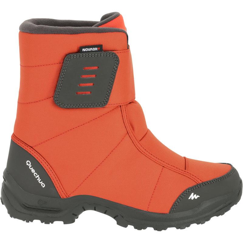 Quechua Arpenaz 100 Warm Novadry Children's Hiking Boots Orange