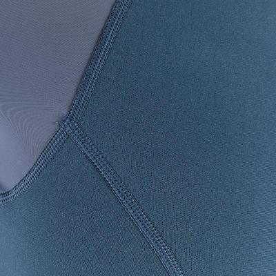 100 חולצת שנורקלינג לנשים - אפור ירוק