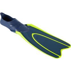 Barbatanas Mergulho com Garrafa SCD 100 Azul/Amarelo Fluorescente