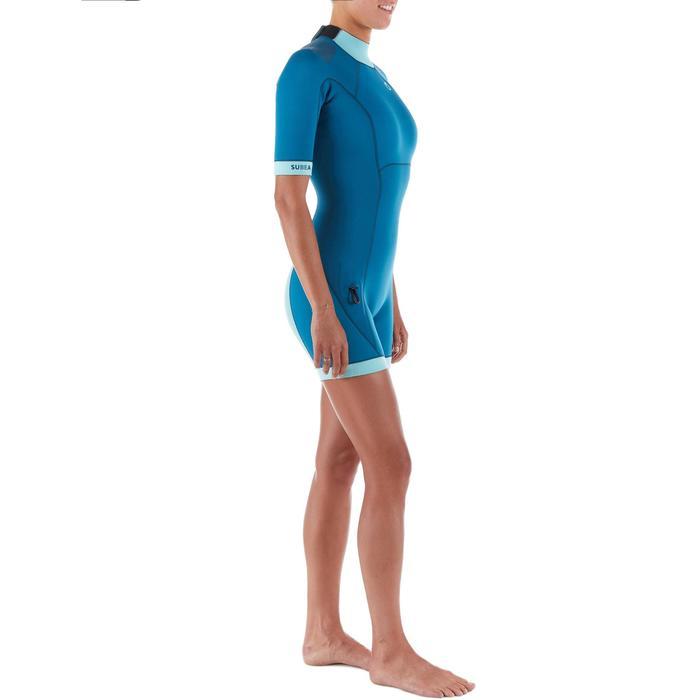 Traje Buceo Subea SCD 500 Mujer Neopreno 3 MM Azul