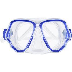 Masque de plongée sous marine SCD 500 Bi-hublot Bleu vif
