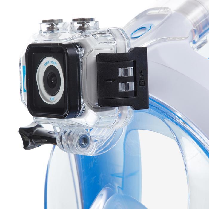 Fixation caméra pour le masque de snorkeling Easybreath transparent avec écrou.