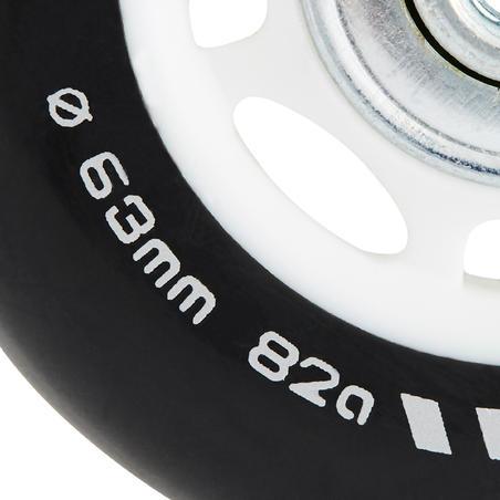4 roues roller 63mm / 82A avec roulements