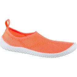 Chaussures aquatiques chaussures d'eau 100 enfant corail