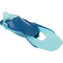 Palmes de plongée avec tuba enfant SNK 500 JR  Turquoise réglables