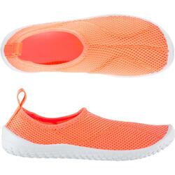 Escarpines Cangrejeras Zapatillas Acuáticas de Snorkel Subea SNK100 Niño Coral