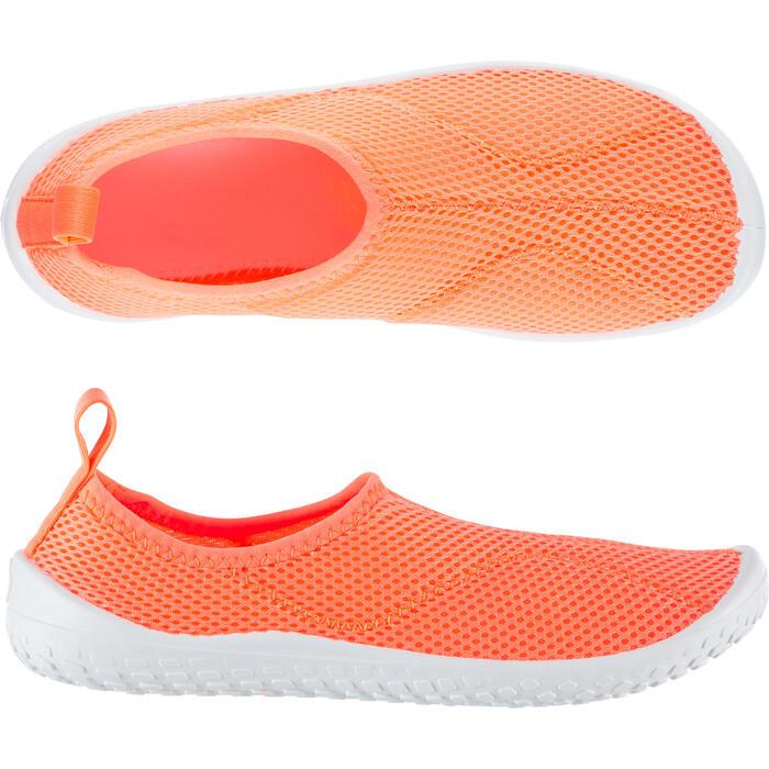 Waterschoenen Aquashoes 100 voor kinderen koraalrood