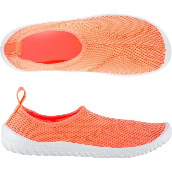 Waterschoenen voor kinderen Aquashoes 100 zalmroze