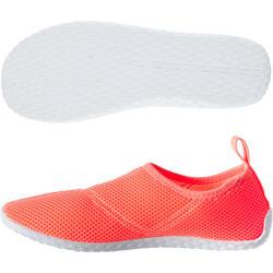 Escarpines Cangrejeras Zapatillas Acuáticas de Snorkel Subea 100 Rojo coral