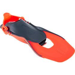 Barbatanas ajustáveis de snorkeling adulto SNK 100 Laranja
