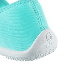 Aquashoes zapatillas acuáticas 120 adulto turquesa claro