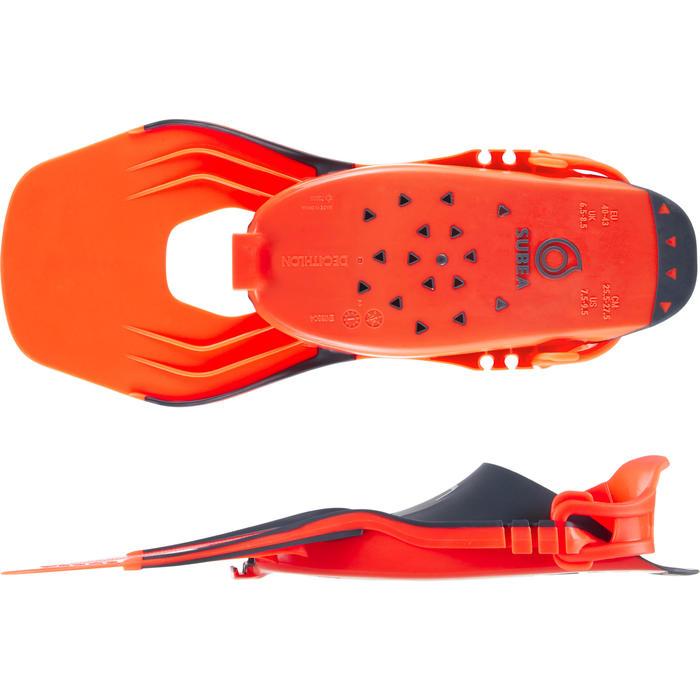 Schnorchelflossen SNK 500 verstellbar Erwachsene neon-orange